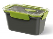 Emsa Bento Box rechteckig in grau/grün 0,9L