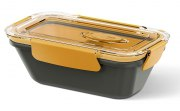 Emsa Bento Box rechteckig mit Einsätzen grau/orange 0,5L