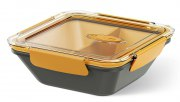 Emsa Bento Box quadratisch m. Einsätzen grau/orange 0,9L