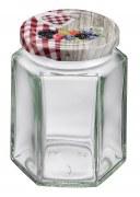Westmark Einmachglas mit Schraubdeckel eckig 191 ml, 6er Set